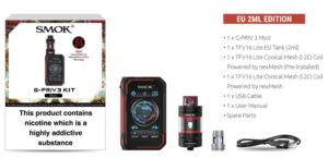 Smok g priv whats in the box