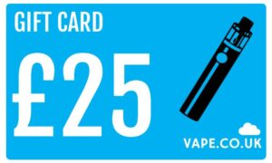 £25 gift card for vape kits and E-liquids