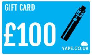 £100 gift card discount to uk vape retailer vape.co.uk