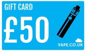 £50 gift card discount vape co uk for vape kits and E-liquid