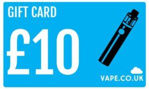 £10 gift card for vape.co.uk