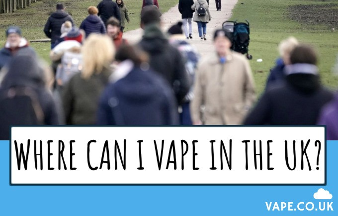 Where can I vape in the uk?