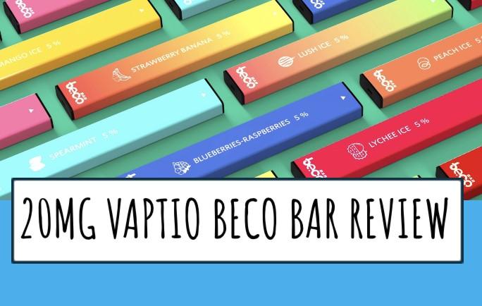 20MG vaptio beco bar disposable vape kit review