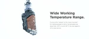 geekvape aegis legend 2 vape kit temperature