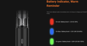 aspire pockex box indicator lights